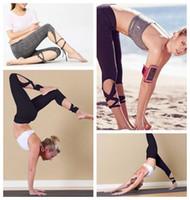 Wholesale black yoga pants online - 2 Colors Fashion Woman Yoga Fitness Pants GYM Dance Ballet Tie Butterfly Pants Wrap Bandage ActiveTight Winding Leggings CCA6532