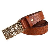 Atacado- Mulheres Novas Senhora Fashion Palac Retro Faux Leather Belt Lady Leisure Solid Metal Buckle Elastic Strap Belt Waistband Oct31