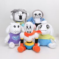 Wholesale undertale plush online - 22cm cm Undertale sans plush Papyrus SANS toriel Asriel Temmie Toys Animation Plush Dolls For Kids gift