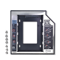 Wholesale ssd hdd caddy adapter for sale - Group buy Universal Aluminum nd HDD Caddy mm SATA DVD HDD Adapter for mm SSD HDD Case Enclosure CD ROM Optibay