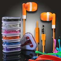 Wholesale Colorful Earphone Iphone Headphone Volume - Best In Ear Headphones 3.5mm Earbuds Colorful Earphones With MIC Volume Control Triangle Retail Package For Samsung Android Cell phone