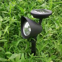Wholesale Auto Spot Light Solar - Wholesale- 3 LED Solar Powered Spotlight Outdoor Garden Landscape Lawn Yard Path Spot Decoration Light Lamp Auto for Home Outdoor Lighting