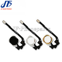 Wholesale Wholesale Bar Keys - 100pcs lot For iphone 5 5S Replacement Home Button Assembly flex cable + home button key (Black Silver Gold) Free shipping