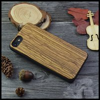 Wholesale Iphone Hard Case Zebra - Wood Case For iPhone 7 6 7Plus Bamboo Carving Natural Genuine Phone Cases For iPhone5 5S SE Zebra Wooden protection Hard Back Cover