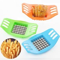 Wholesale French Cooking - Lowest Price!! hot Stainless Steel Potato Cutter Vegetable Slicer Chopper Chips Device Fries Kitchen Cooking Tools Potato Vegetable Slicer
