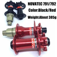 Wholesale Novatec Mountain Bike Hubs Front D791SB Rear D792SB Holes Black Red Colors MTB Bicycle Hub About g