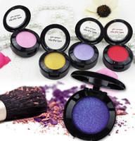 pigmentos de cor para sombra venda por atacado-À prova d 'água Shimmer Matte Eyeshadow Profissão Pigmento Maquiagem Olhos Paleta de Cosméticos Glitter Metálico Nu Sombra de Olho Blush única cor