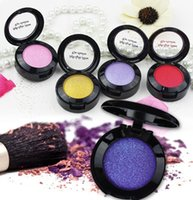 ingrosso trucco singolo pigmento dell'ombra di occhio-Waterproof Shimmer Matte Eyeshadow Profession Pigment Makeup Eyes Cosmetic Palette Glitter Metallic Nude Eye Shadow Blush Colore unico