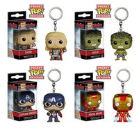 L'originale FUNKO Movie Avengers Age di Ultron 3-5cm MINI Funko cifra la tasca POP Keychain super carino in magazzino freeshipping