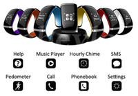 Wholesale Vibrating Screening - Colourful L12S Smart Bracelet OLED Touch screen Bluetooth 3.0 Bracelet Step-by-Step Call Display Shows Time Vibrating Massage Wrist Android