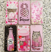 einhorn glitter telefonkasten großhandel-Glitter Liquid Quicksand Phone Cases für iPhone 6 6s Plus Hülle Bling Unicorn Water Sequins Paris für iPhone 7 8 Plus X Hülle