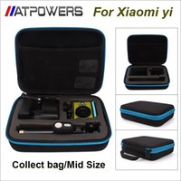Wholesale Box Size Camera - Wholesale- Travel Storage collection bag Case box Mid size 22*18*6cm portable bag for xiaomi yi xiaoyi action camera