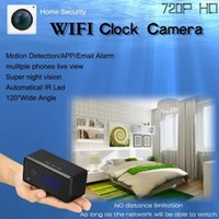 WIFI HD 720P relógio IP câmera Mini relógio câmera escondida espião com detecção de movimento infravermelho Night Vision Indoor Home Security Surveillance Cam