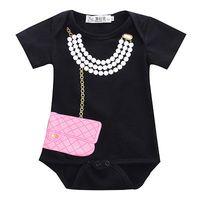 Wholesale Tuxedo Bodysuit Newborn - Wholesale- 2016 New Infant Newborn Baby Girl Boy Tuxedo Bodysuit Romper Jumpsuit Gentleman Clothes