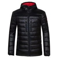 Wholesale Winter Puffer - 2018 High Quality CANADA New Winter men's Down puffer jacket Casual Brand Hoodies Down Parkas Warm Ski Mens Coats 200