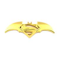 ingrosso batman emblemi-nuovo 3D Cool Metal bat auto logo auto styling auto adesivi batman superman distintivo emblema decalcomania accessori auto moto