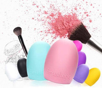 Wholesale cosmetic tool cleaners for sale - Brushegg Silicone Brush Cleaning Egg Cosmetic Brush Make up Makeup Brush Cleaner Clean tool High Quality