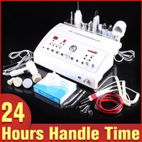 Wholesale Skin Cleasing - 8IN1 Dermabrasion Ultrasonic High Frequency Vacuum Skin Brush Scrubber Spray Multi-function Machine For Smooth Wrinkles Pore Cleasing