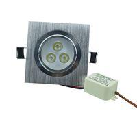 plafón cuadrado 1w al por mayor-Al por mayor-3W Square Downlight techo Epistar LED lámpara de techo empotrada Spot luz AC110V 220V para el hogar iluminación blanco / blanco Natural