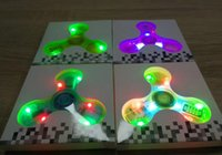 Wholesale Mini Speaker Led Crystal - Exclusive Style Crystal transparent Hand Spinner flashing LED lamp Bluetooth speaker fidget spinner finger speaker Free DHL