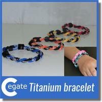 Wholesale Tornado Titanium Braided Bracelets - 2016 Tornado 2 Ropes Titanium Braided Sports Bracelet OEM the size