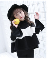 Wholesale Girls Sweater Knit Pattern - Fashion Girl Clothes kids boutique clothing stripe Girls casual Sweater Korean Children Sweaters Knitting Patterns Pullover Sweaters A997