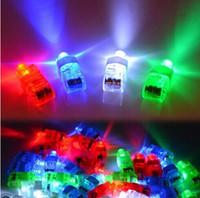 parlayan lazerler toptan satış-Üreticileri satış LED Parmak Lambası LED Parmak Yüzük hediyeler Işıkları Glow Lazer Parmak Kirişler LED Yanıp Sönen Halka Parti Flaş Çocuk Oyuncakları 4 Renkler
