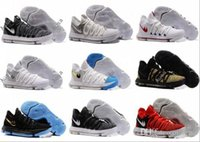 """Wholesale Kd Shoes For Women - 2017 New KD 10 """"BETRUE"""" Basketball Shoes For Men Zoom Still KD 10 University Red PE Oreo platinum Igloo Sport Sneakers Size 40-46"""