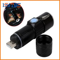 3 Mode Tactical Flash Light Torch Mini Zoom Rechargeable Puissant USB LED Lanterne AC Lanterna Pour Voyage en plein air