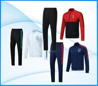 Wholesale Real Madrid Tracksuit - Full Zipper 2017 2018 Ajax Jacket Tracksuit 17 18 Real Madrid AC Milan dybala Track Soccer Jogging Football Tops Coat Pant Men Training Suit