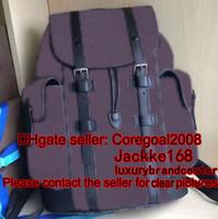 Wholesale Mens Travel Black Bag - CHRISTOPHER PM N41379 M43735 travel bag mens ANDY black plaid BROWN FLOWER backpack N41510 Bordeaux 405019 268184 PALK M41408 N58024 MICHAEL
