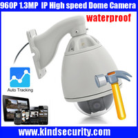 Wholesale Auto Tracking Dome - Freeship 2016 20X Optical Zoom High Speed Dome Full HD960P Auto Tracking high speed PTZ IP dome Camera
