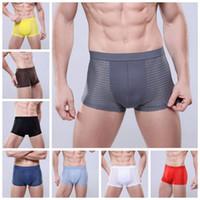 Wholesale underpants l size for sale - Group buy Men Ice Silk Breathable Underpants Breathable Mesh Briefs Sexy Men Boxers Hollow Out Soft Underwear Colors OOA3224