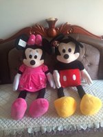 Wholesale Minnie Toy Lover - Wholesale- 100CM lovers gifts Big Plush toy 1M Mickey Mouse mickey Minnie birthday gift Wedding gifts,Christmas Movie Gift