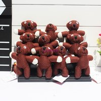 Wholesale mr beans bear for sale - Group buy Teddy bear Plush Keychain Pendant Mr Bean Plush Doll Soft Toys cm