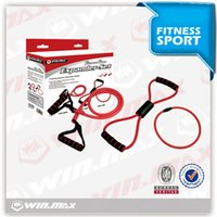 Wholesale Resistance Lycra - 2017 AAA Lycra Leisure Fitness Hand Pull Brace Resistance Bands Winmax Fitness Expander Set Young People Exercise Equipment Sport Outdoors