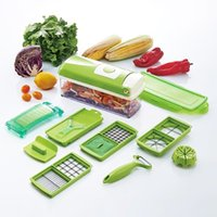 Wholesale Dicer Food Slicer Cutter - New Multifunction 12in1 Set Food Fruit Vegetable Cheese Chopper Slicer Tools Set Cutter Dicer US Seller