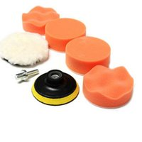 Wholesale 7Pcs inch Buffing Pad Auto Car Polishing Wheel Kit Buffer M14 Drill Adapter