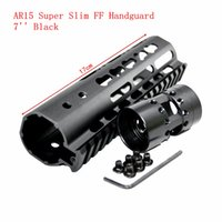 "Wholesale One M4 - XWXS 7"" Inch Free Float 5.56 RIS Super Slim Handguard One Piece Top Rail KeyMod System For AR-15 M4 M16"