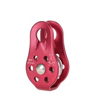 Wholesale ice climbing equipment - Wholesale-Hot Sale Red Camping Outdoor Single Fixed Pulley Mountaineering Rope Climbing Rappelling Survival Equipment Travel Kits