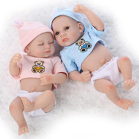 Wholesale Handmade Collectible Dolls - 10 Inches Full Mini Vinly Reborn Baby Dolls For Sale Baby Alive Newborn Baby Dolls Handmade Lifelike Washing Doll