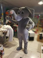 Wholesale Elephant Pictures - Hot high quality Real Pictures elephant mascot costume fancy carnival costume free shipping