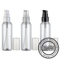 Wholesale Travel Size Spray Container - 30pcs 60ml clear empty cosmetic container with cream pump,60g skin care cream treatment bottles travel size makeup setting spray