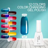 Wholesale Wholesale Color Changing Nail Polish - Azure Lastest Temperature Changing gel 42pcs lot Nail Art Nail Art Soak Off Color UV Gel Polish 42 colors
