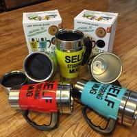 ingrosso vortex plastica-500 ML Automatico Elettrico MUG Drinkware Plastica Sport Drink Shaker Bottiglia di Acqua Self Stirring Vortex Coffee Tea Smart Mixer Cup