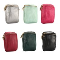 Wholesale Chinese Cosmetic Cases - 6.4 inch Fashion Bags with 135cm Adjustable Strap 6 Color PU Leather Cosmetic Pouch for Boys and Girls