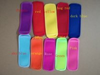50pcs lot Fast Shipping 8x16cm Holders Ice Sleeves Freezer Holders for Kids colorful