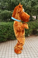 Wholesale Scooby Costumes - 2017 New Professional Scooby Doo Dog Mascot Costume Adult SIZE Fancy Dress free shipping