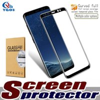 Wholesale colorful tempered glasses for sale – best For iPhone X Plus D Curved Full Cover Tempered Glass Film For Samsung S8 Plus S7 S6 Edge Plus Colorful Screen Protector Note