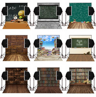 Digital Printing Computer Printed black baby books - 5x7FT back to school black board vintage treasure books photo background for baby newborn camera fotografica digital photography backdrops